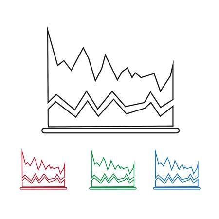 growth chart: diagram icon