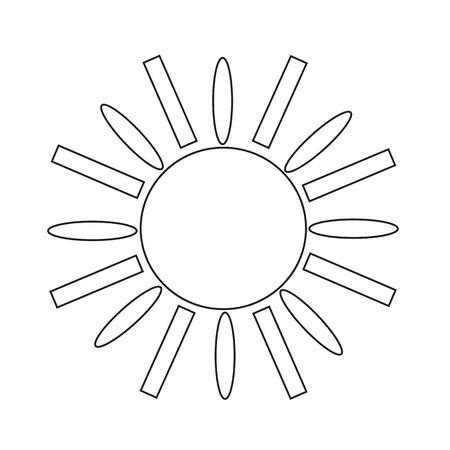 abstract symbolism: Sun Icon