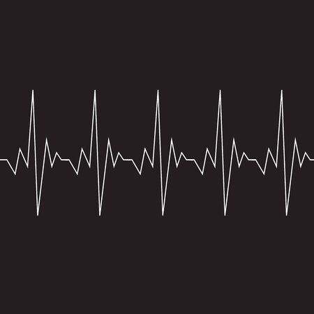 cardiograph: Heart beat cardiogram icon