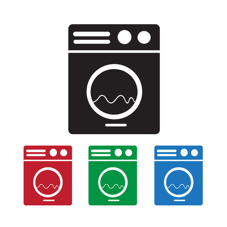 washing machine: Icono Lavadora Vectores