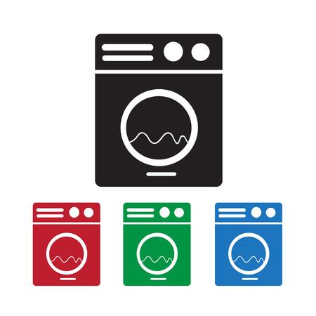 washing machine: Washing machine icon Illustration