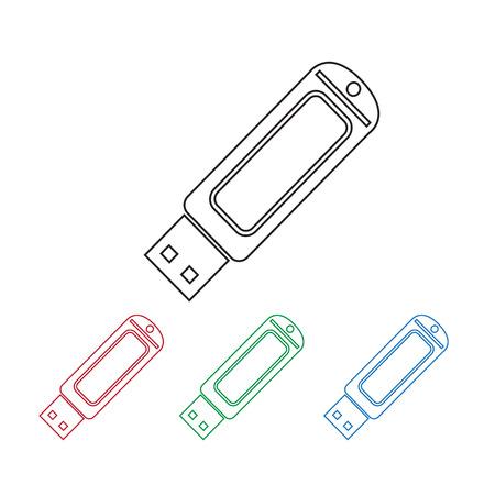 flash drive: USB Flash drive icon Illustration