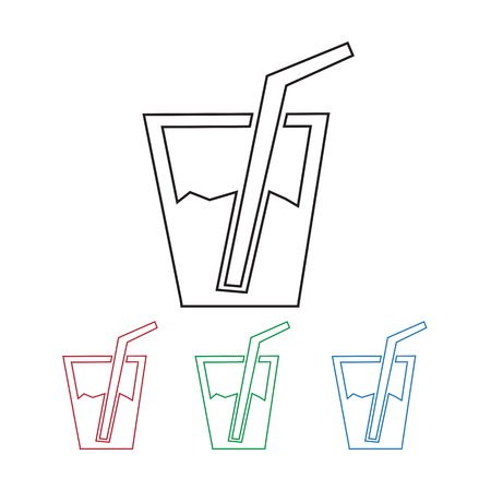 soft drink: Soft drink icon Illustration