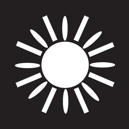 słońce: Sun Ikona Ilustracja