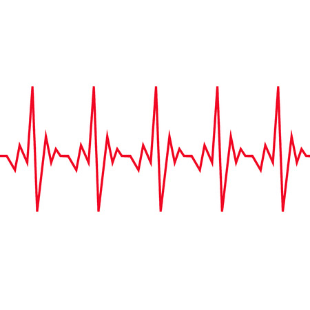 Heart beat cardiogram icon