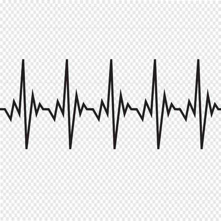 beat: Heart beat cardiogram icon