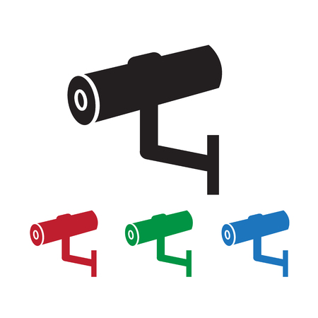 monitored area: Cctv Icon ,  cctv,  security icon Illustration