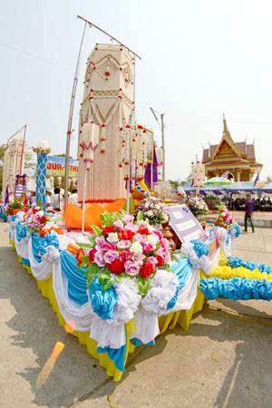 wreaths: Rice wreaths art Festival Yasothon,Thailand Stock Photo