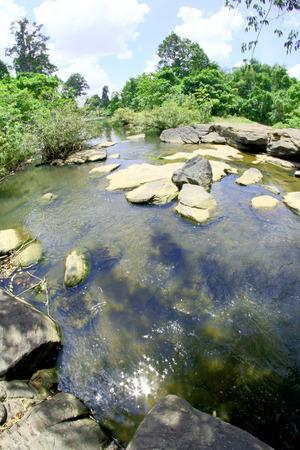 kaeng: Deep Forest River kaeng lam duan in Ubon Ratchathani, Thailand