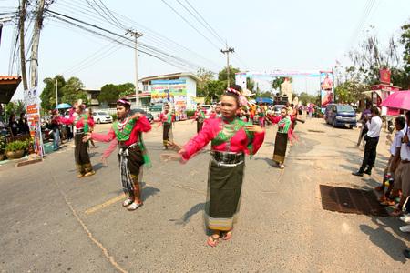 wreaths: Rice wreaths art Festival Yasothon,Thailand Editorial