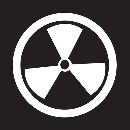 hazardous waste: Radioactivity sign icon