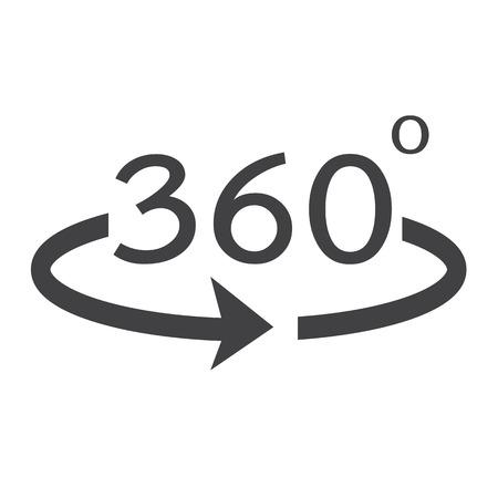 角度 360 度アイコン  イラスト・ベクター素材