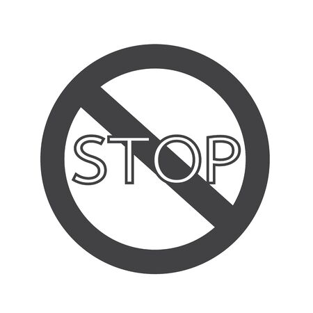 traffic ticket: Stop Sign Icon Illustration