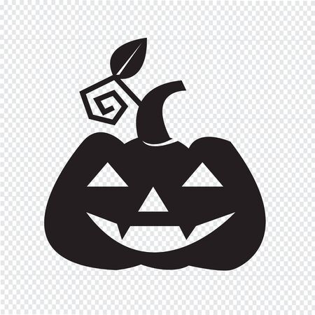 cucurbit: Halloween pumpkin icon Illustration