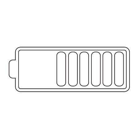 multi level: Battery symbol icon Illustration