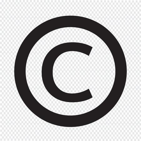 icono de símbolo de copyright