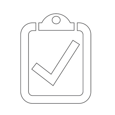 filling folder: checklist icon Illustration