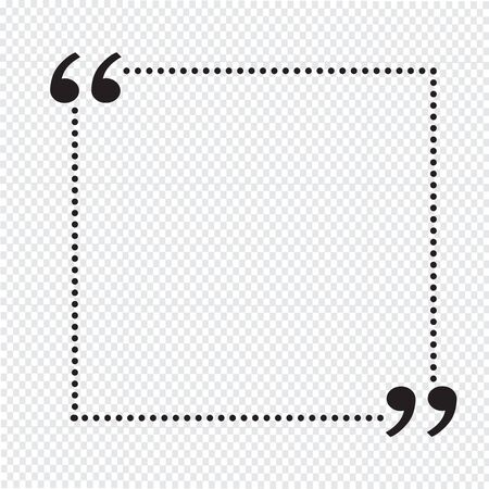 Quote bubble blank Illustration