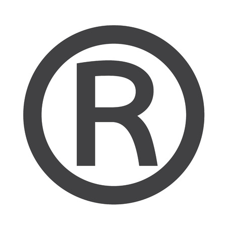 law symbol: Registered Trademark icon