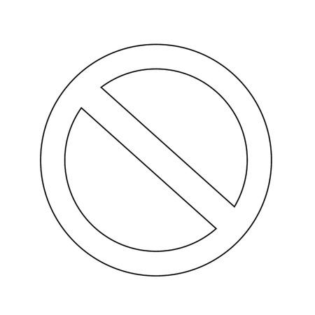 a public notice: blank ban Symbol icon