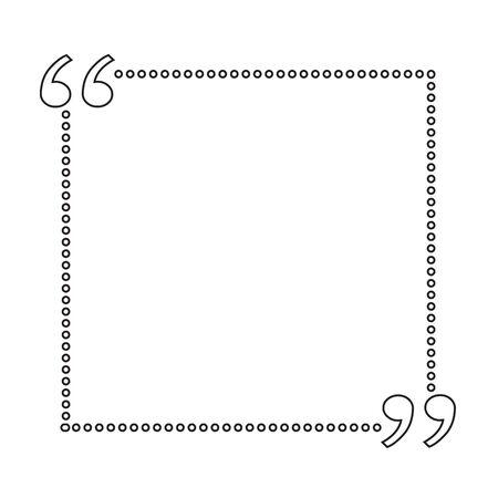 feedback sticker: Quote bubble blank Illustration