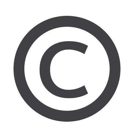icono de símbolo de copyright Ilustración de vector
