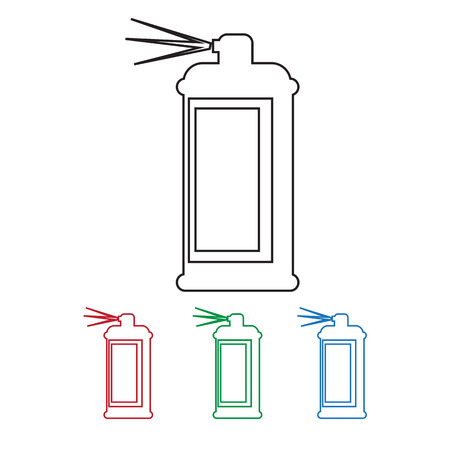hairspray: Spray icon Illustration
