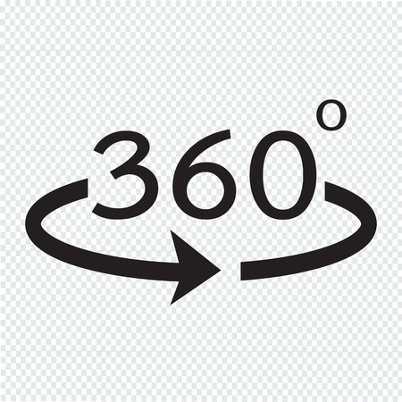 Angle 360 degrees icon Illustration