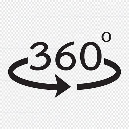 Angle 360 degrees icon Illustration