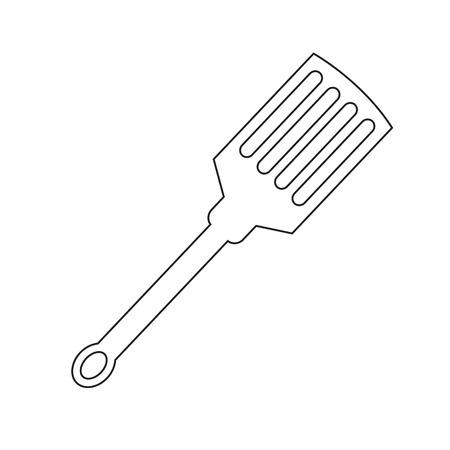 spatula: kitchen spatula icon Illustration