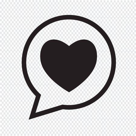 heart icon: Heart speech bubble icon Illustration