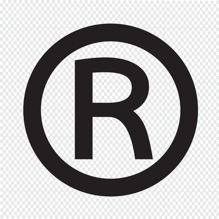 Pictogram geregistreerd handelsmerk