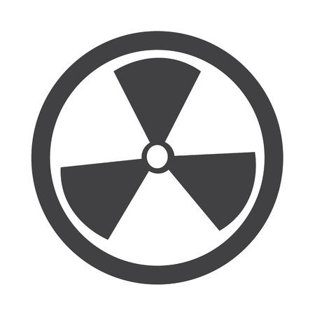 contaminated: Radioactivity sign icon