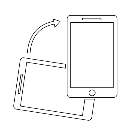 rotate: Rotate Smartphone icon Illustration