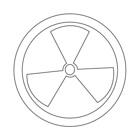 radiactividad: Icono de la muestra de la radiactividad