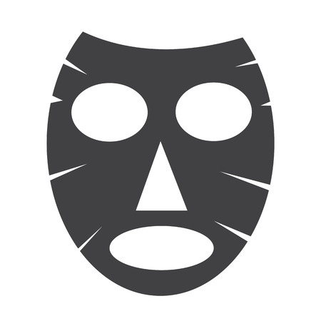 facial massage: Facial mask icon Illustration