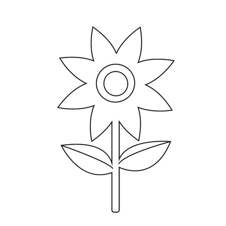 abstract symbolism: Flower icon