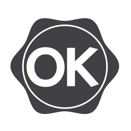 ok button: OK button Illustration