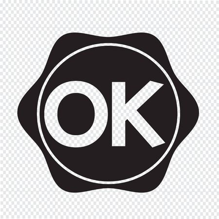 affirmative: OK button Illustration