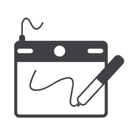 mousepad: Digital Drawing Board icon Illustration