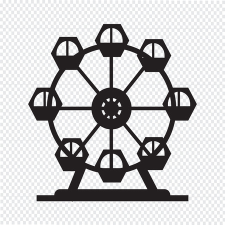 Ferris wheel icon Vettoriali
