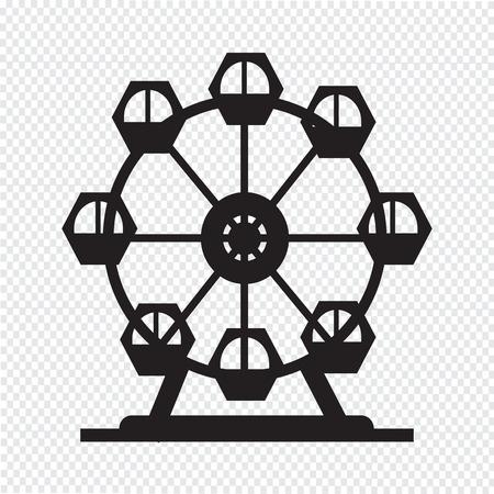 Ferris wheel icon Vectores