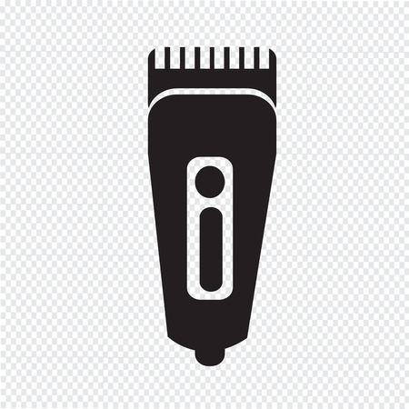 shaver: Shaver symbol hairclipper icon Illustration