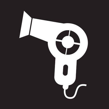 blow drier: Hair dryer icon Illustration