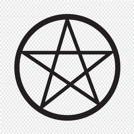an amulet: Pentagram icon Illustration