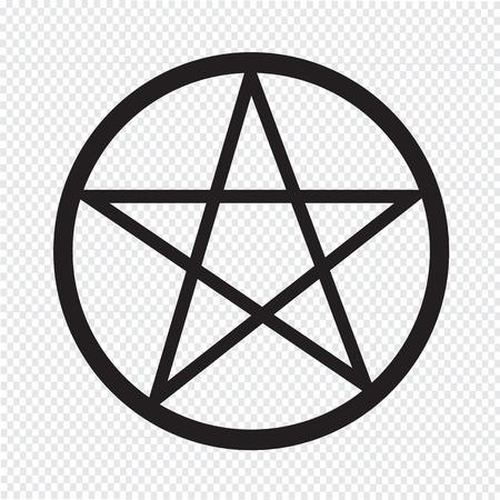 satanism: Pentagram icon Illustration