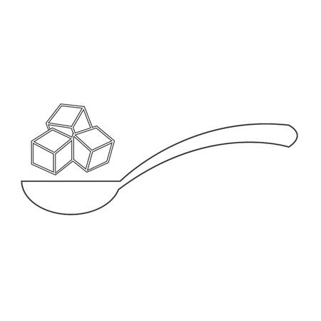 sugar cube: sugar icon Illustration