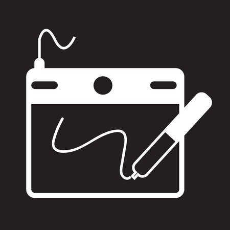 Digital Drawing Board icon Illustration