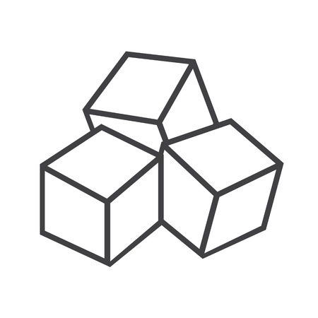sugar cube: Sugar cubes icon