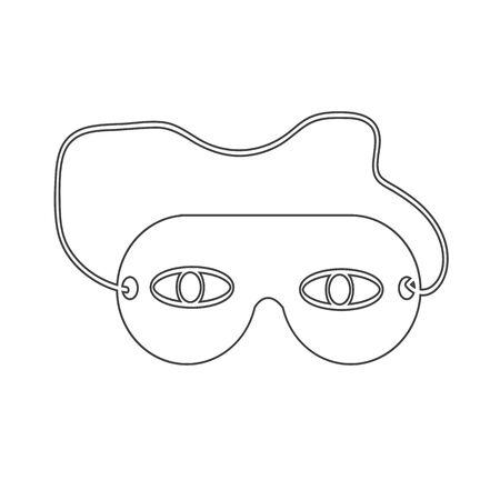eye mask: sleep eye mask icon